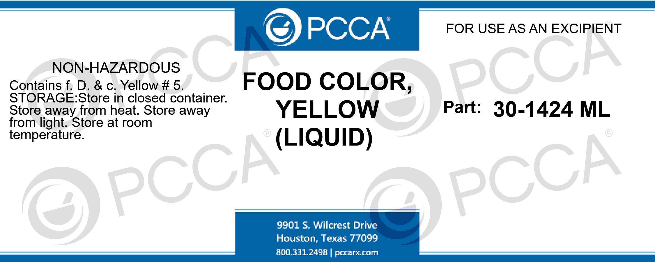 FOOD COLOR, YELLOW (LIQUID) - PCCA